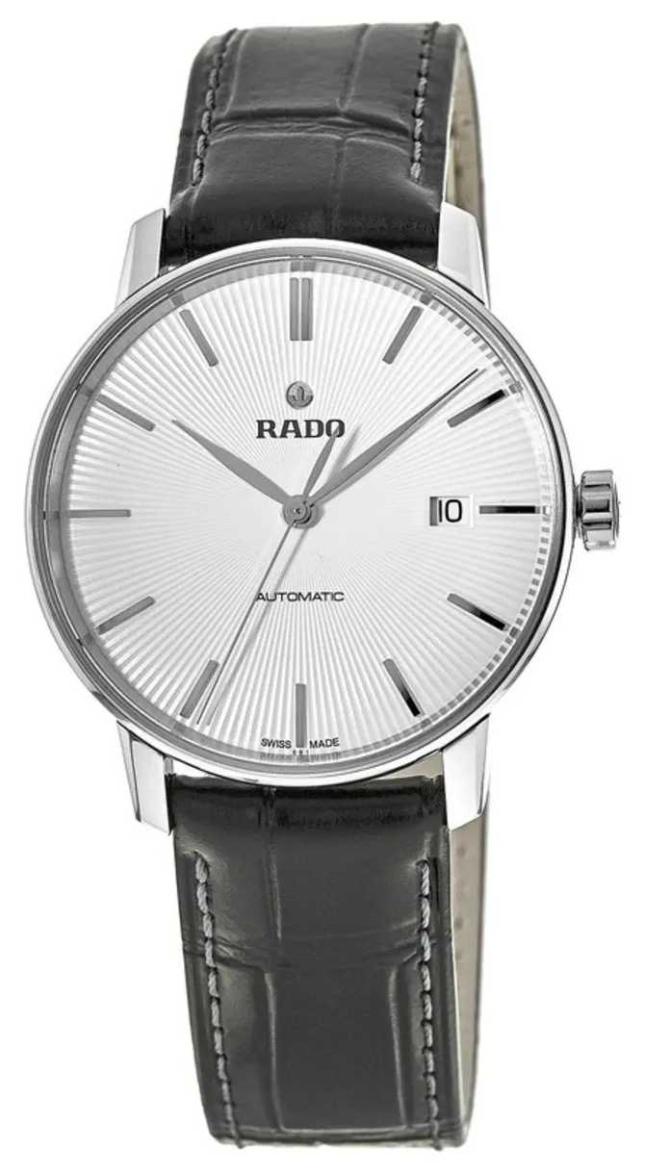 RADO Rado Coupole Classic L Automatic Black Leather Silver Dial R22860015