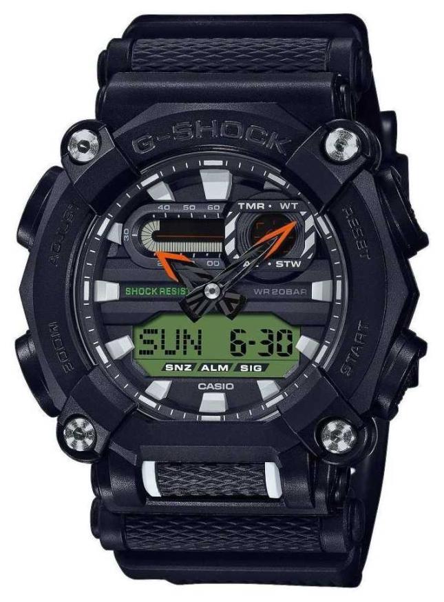 Casio G-SHOCK   Heavy Duty   World Time   Black GA-900E-1A3ER