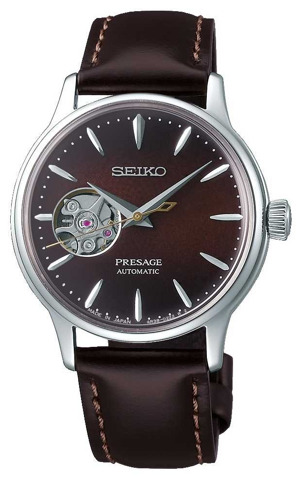 Seiko | Presage Ladies Mechanical | Brown Calf Leather |Brown Dial SSA783J1