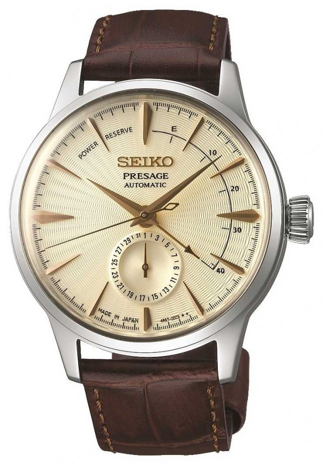 Seiko | Mens Presage | Brown Calf Leather Strap | SSA387J1