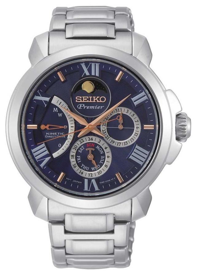 Seiko | Premier Kinetic Direct Drive | Mens | Blue Calender | SRX017P1