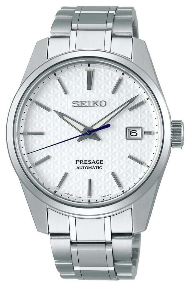 Seiko Presage | Mens | Shrioneri White Dial | Automatic | Sharp Edge Series SPB165J1