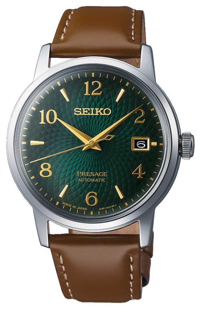 Seiko Presage   Automatic   Green dial   Mojito   Date   Golden SRPE45J1