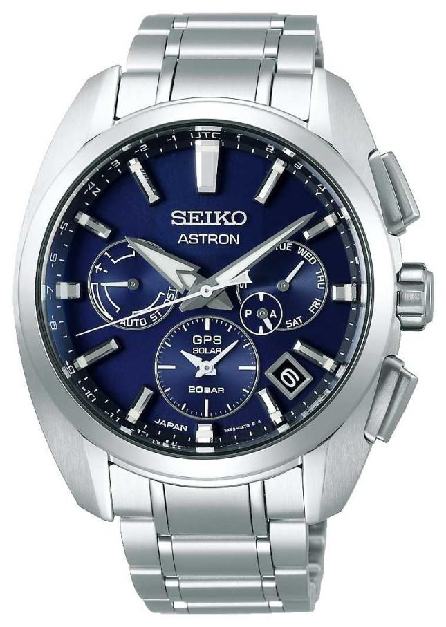 Seiko Astron | Titanium | Mens | Solar | Blue dial | Watch SSH065J1