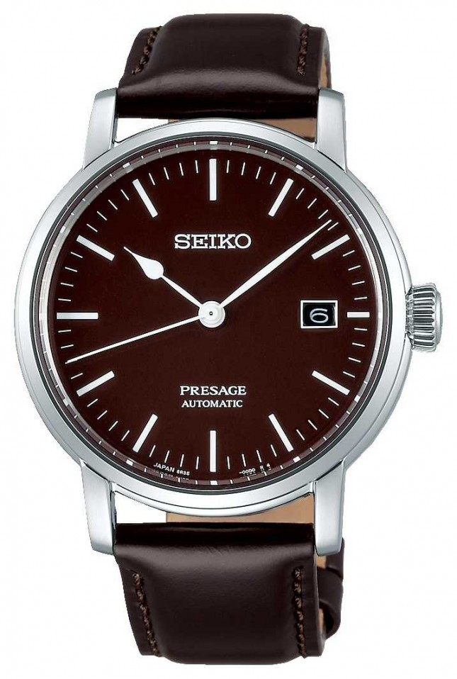 Seiko | Presage Gents Mechanical | Brown Leather | Brown Strap SPB115J1