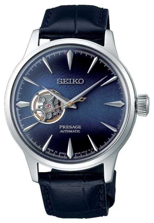 Seiko Presage Gents Mechanical   Blue Calf Skin Leather   SSA405J1