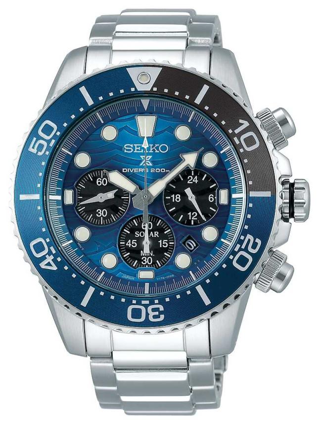 Seiko | Prospex Diver's | Save The Ocean | Blue Chronograph Dial | SSC741P1