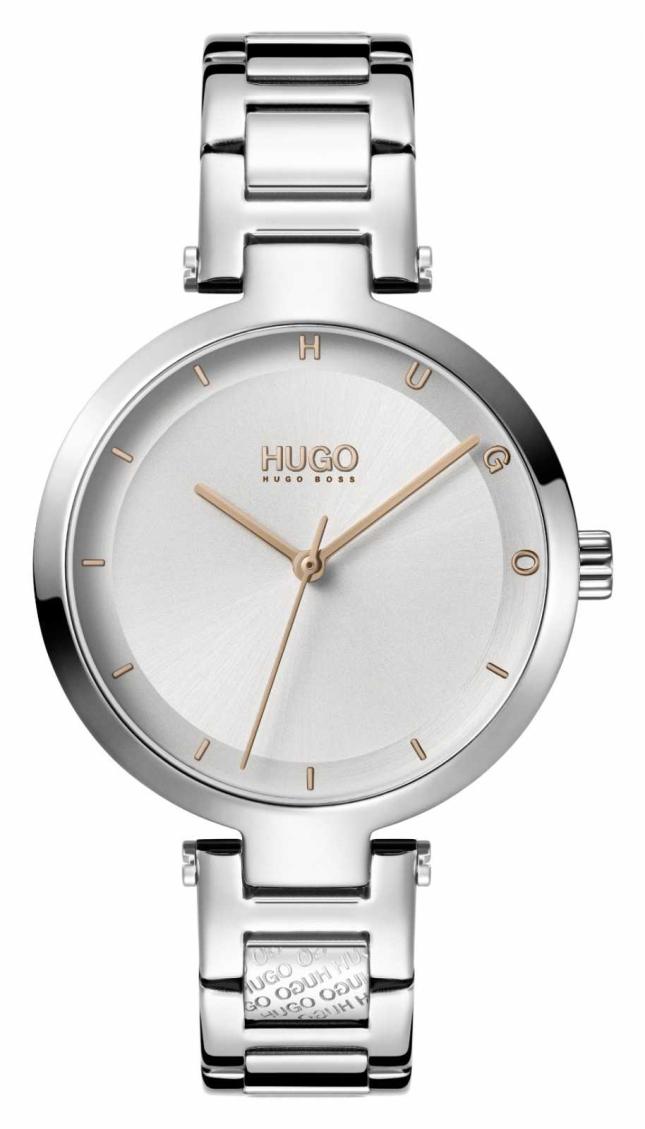 HUGO Ladies #HOPE Casual | Silver Dial | Stainless Steel Bracelet 1540076