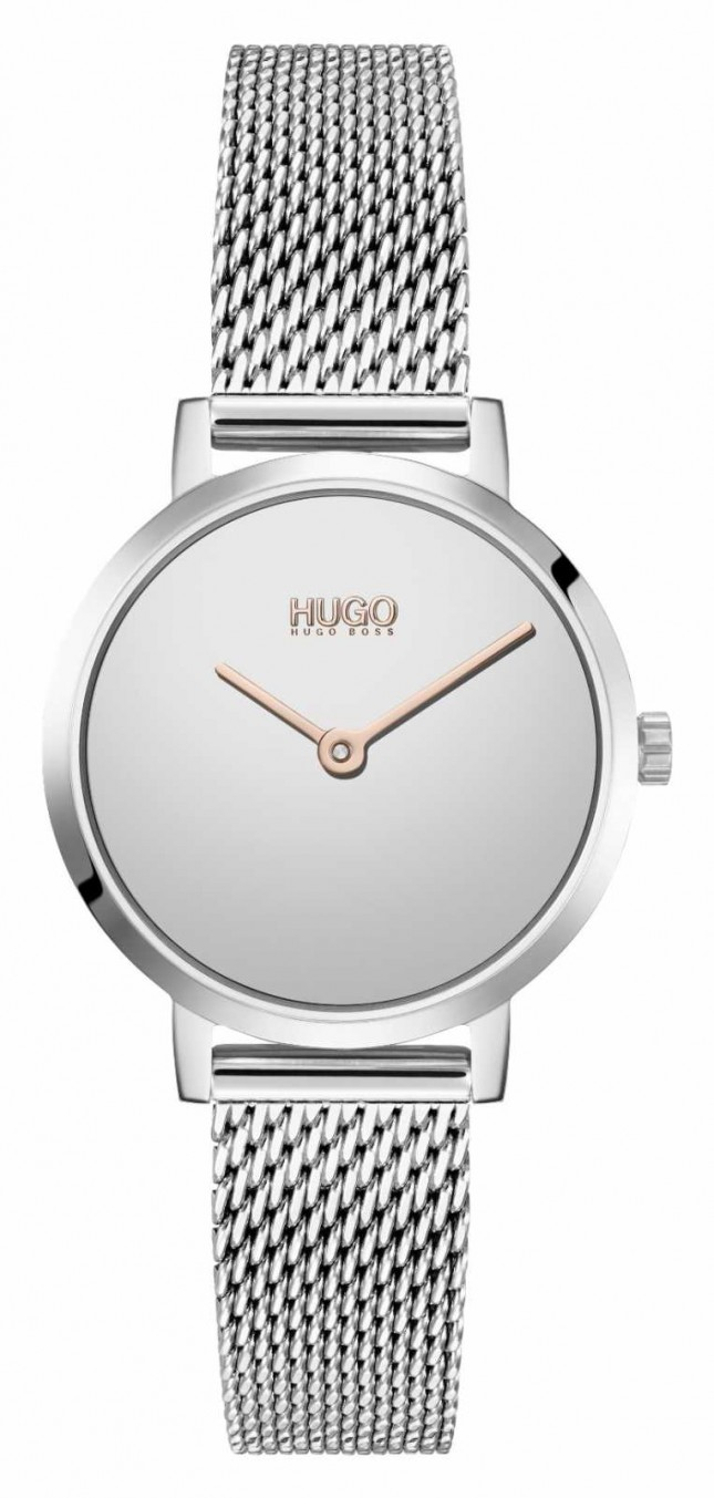 HUGO #CHERISH Casual   Silver Dial   Stainless Steel Mesh 1540084