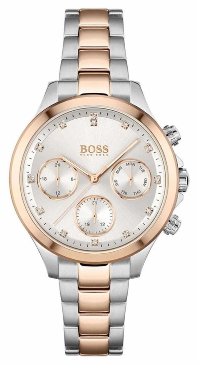 BOSS Women's Hera | Two-Tone Steel Bracelet | Silver Dial 1502564