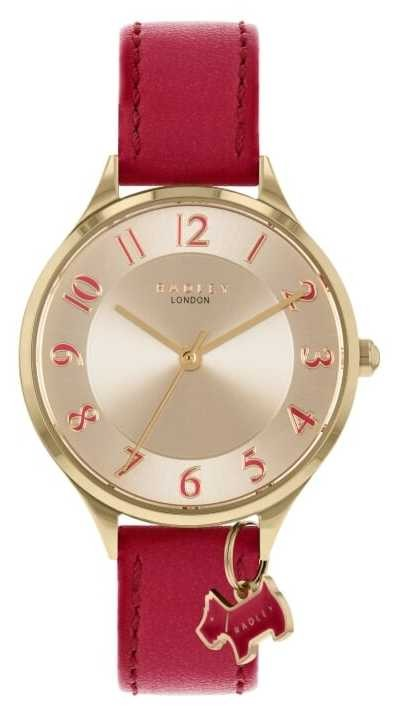 Radley | Saxon Road | Red Leather Strap | Silver Dial | RY2968