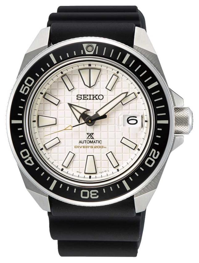 Seiko Men's Prospex | Black Silicone Strap | Beige Dial SRPE37K1