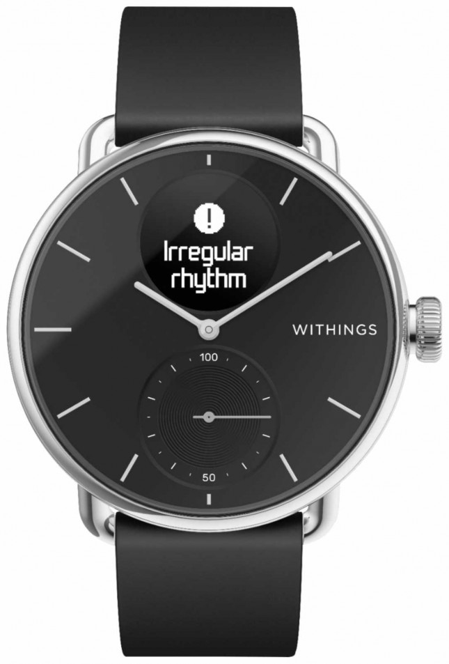 Withings Scanwatch Silicone Strap 38mm – Black HWA09-MODEL 2-ALL-INT