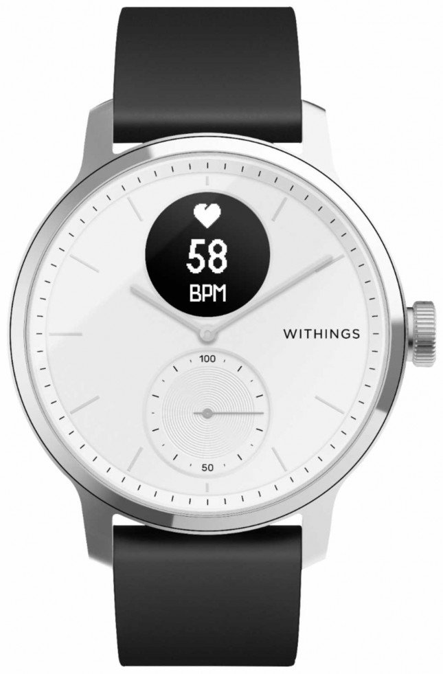 Withings Scanwatch 42mm – White HWA09-MODEL 3-ALL-INT