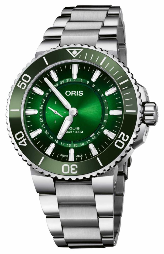 ORIS Limited Edition Aquis Diver Hangang Green Dial 01 743 7734 4187-SET