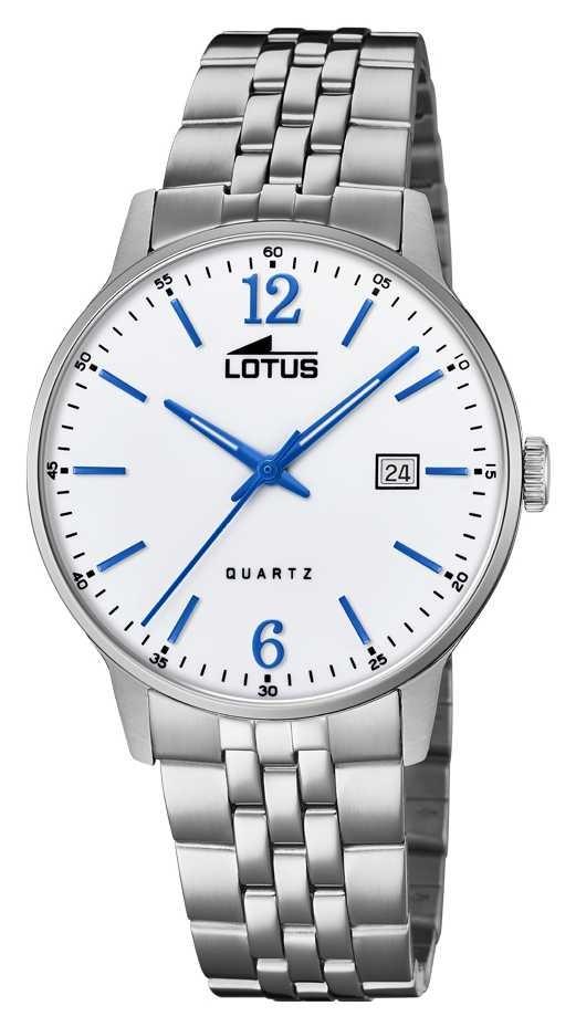 Lotus Men's Stainless Steel Bracelet | Silver Dial | Blue Hands/Markers L18694/2