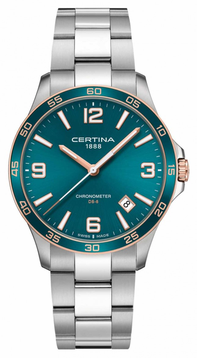 Certina DS-8 | Stainless Steel Bracelet | Green Dial | Quartz C0338512109700