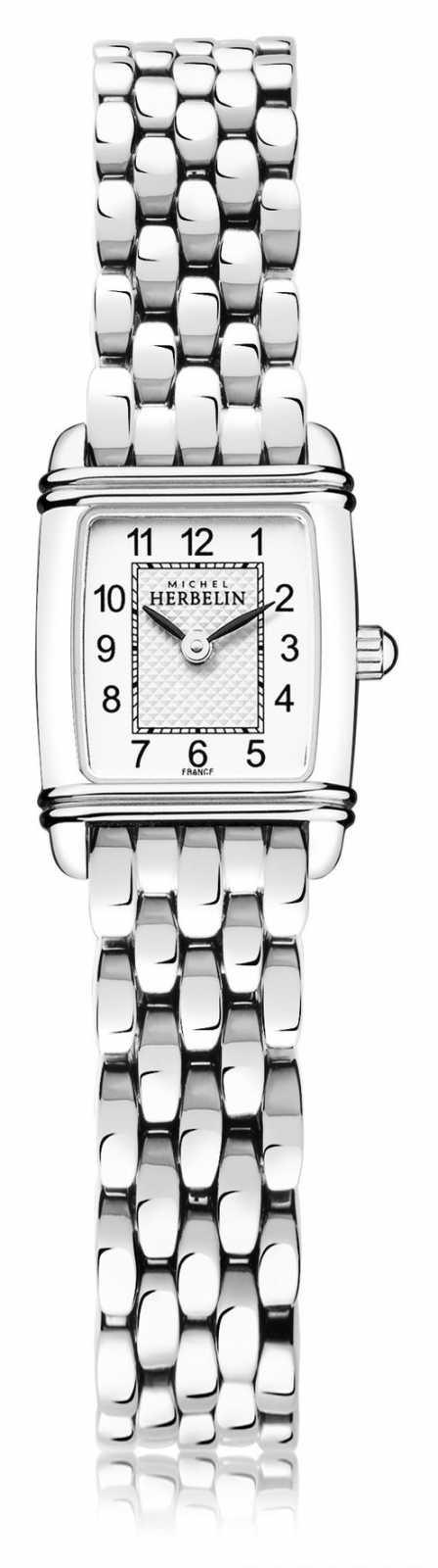 Michel Herbelin Art Déco   Women's Stainless Steel Bracelet   White Dial   17438/22B