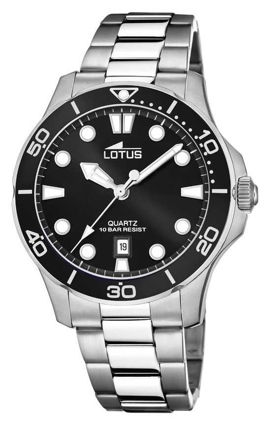 Lotus Men's Stainless Steel Bracelet  Black Dial L18762/2