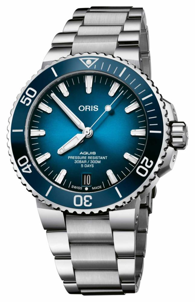 ORIS Aquis Date | Calibre 400 120 Hours | Stainless Steel | Blue Dial 01 400 7763 4135-07 8 24 09PEB