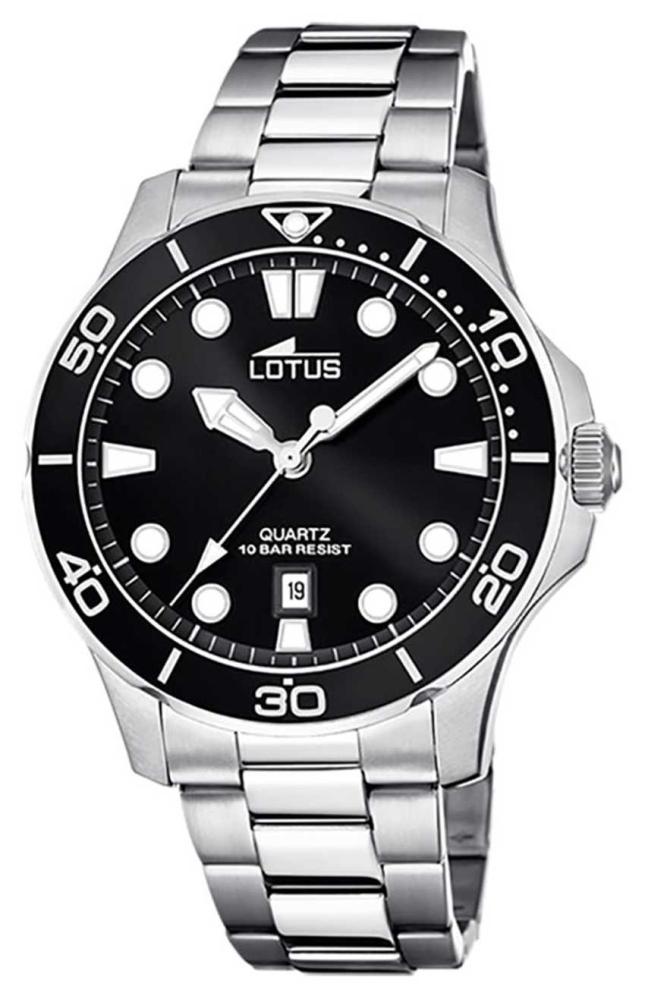 Lotus Men's Stainless Steel Bracelet   Black Dial L18759/3