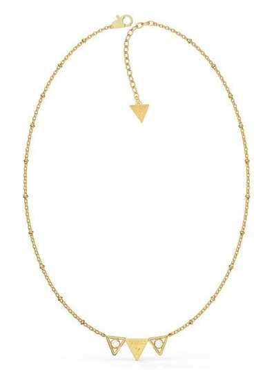 Guess Queen Of Heart | Gold Plated Triangle Necklace UBN79007