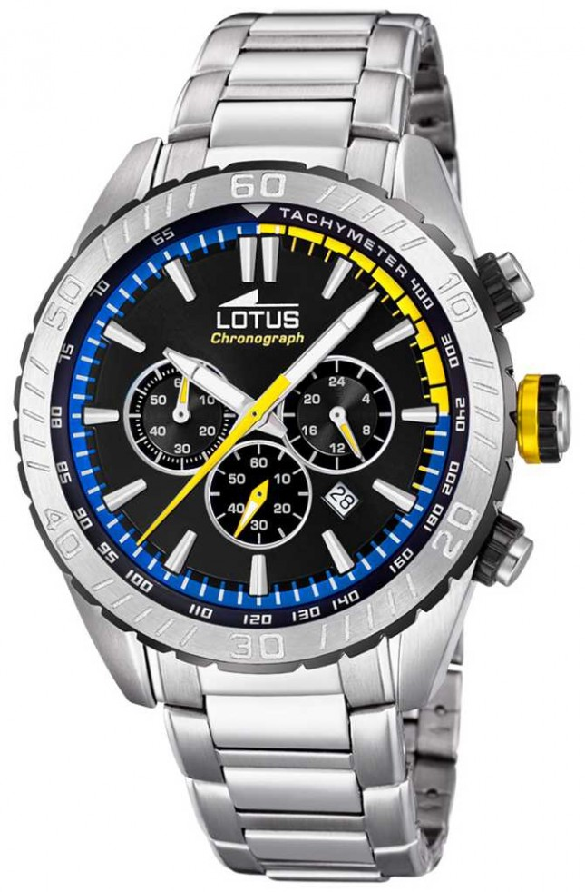 Lotus Men's Stainless Steel Bracelet   Black Chronograph Dial L18678/6
