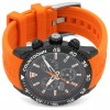 Lotus Men's Orange Silicone Strap   Black Chronograph Dial L18672/5