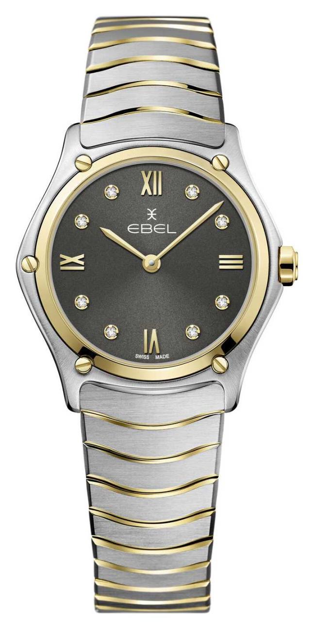 EBEL Women's Sport Classic   Two-Tone Steel Bracelet   Grey Diamond Dial 1216419A