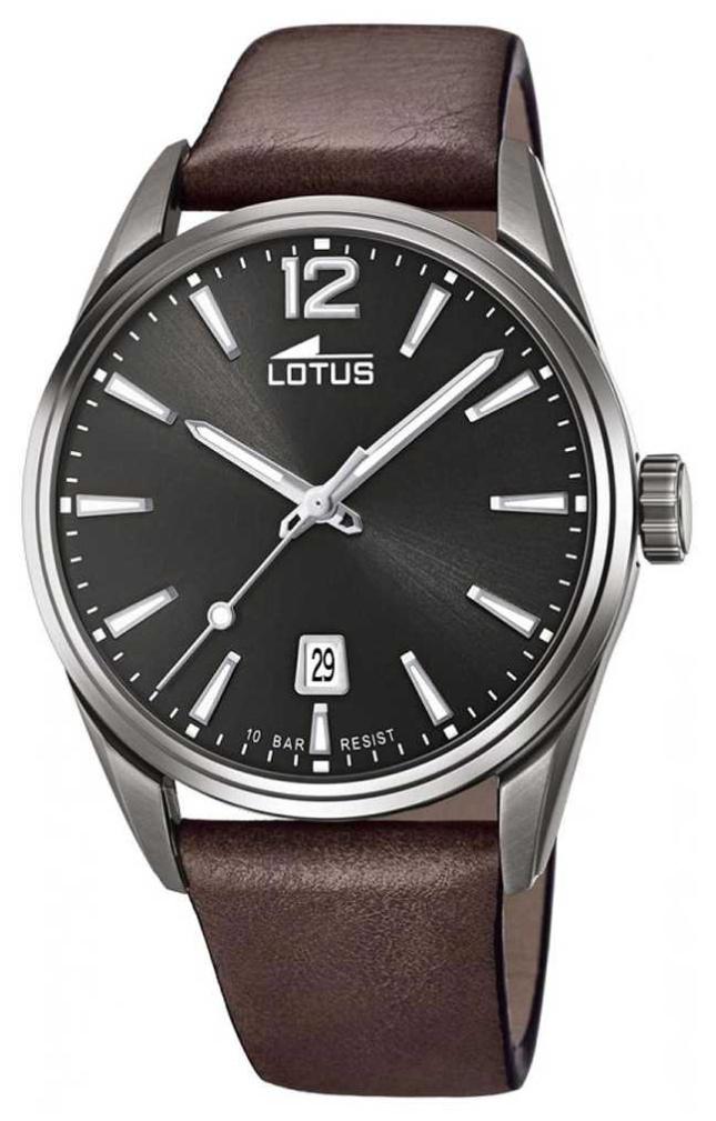 Lotus Men's Brown Leather Strap   Black Dial L18685/1