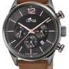 Lotus Men's Brown Leather Strap | Black Chronograph Dial L18687/2