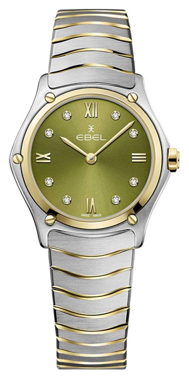 EBEL Women's Sport Classic   Two-Tone Steel Bracelet   Green Dial 1216473A
