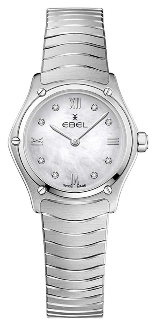 EBEL Women's Sport Classic   Stainless Steel Bracelet   Silver Diamond Dial 1216474A