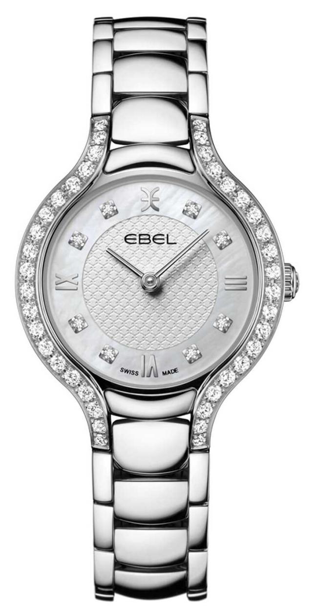 EBEL Women's Beluga   Stainless Steel Bracelet   Mother Of Pearl Dial   Diamond Set 1216465