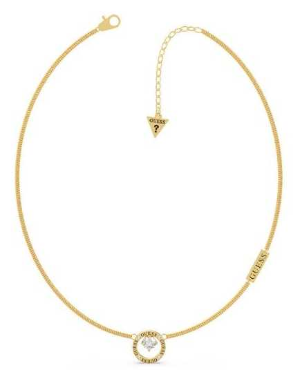 Guess All Around You | Gold Plated Crystal Set Pendant Necklace UBN20122