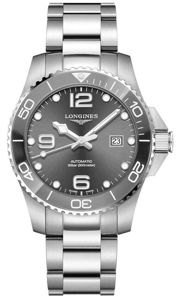 Longines HydroConquest 43mm Grey Ceramic Bezel Automatic L37824766