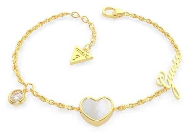 Guess Sea Gift | Gold Plated Heart Pendant Bracelet UBB79022