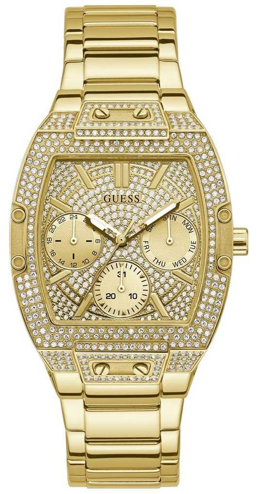 Guess Raven | Women's Gold Plated Steel Bracelet | Gold Crystal Set Dial GW0104L2