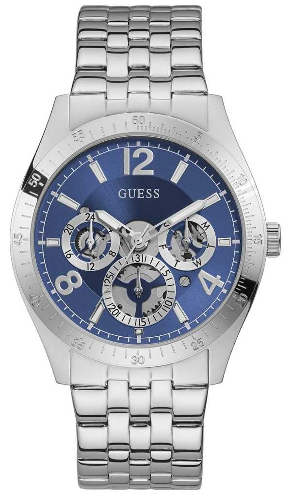 Guess Vector | Men's Stainless Steel Bracelet | Blue Dial GW0215G1