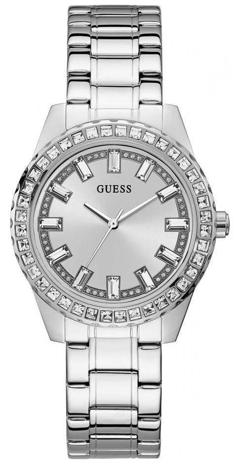 Guess Sparkler   Women's Stainless Steel Bracelet   Silver Dial GW0111L1