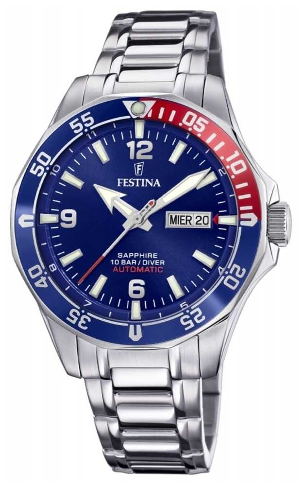 Festina Men's Automatic | Stainless Steel Bracelet | Blue Dial F20478/2