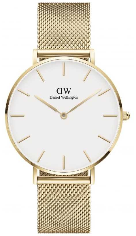 Daniel Wellington Petite 36 Evergold | Gold Mesh Bracelet | White Dial DW00100346