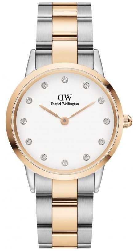 Daniel Wellington Iconic Lumine 32 | Two-Tone Steel Bracelet | White Dial DW00100358