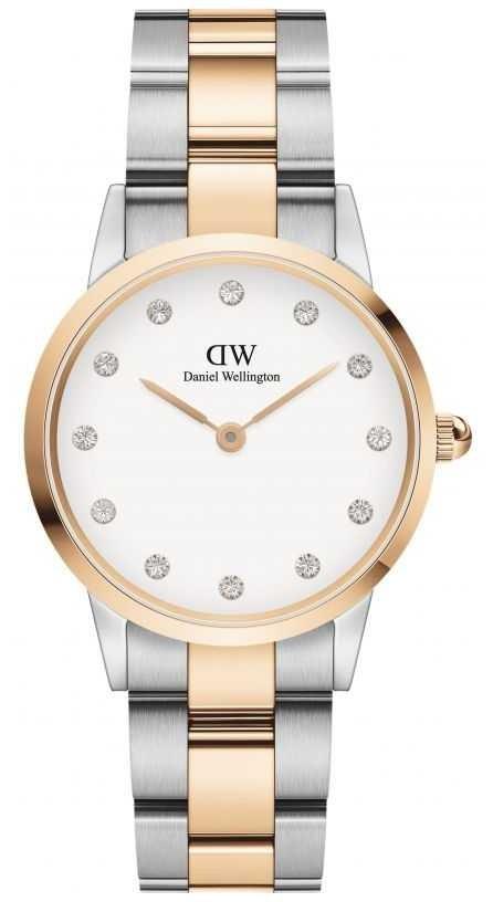 Daniel Wellington Iconic Lumine 28 | Two-Tone Steel Bracelet | White Dial DW00100359