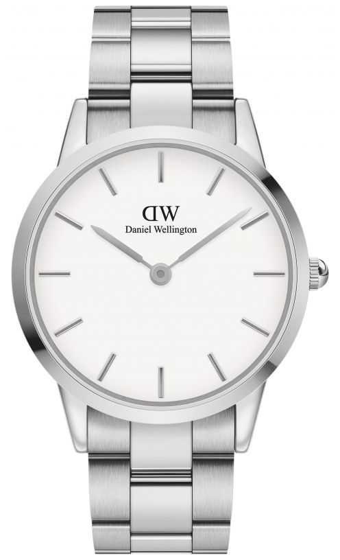 Daniel Wellington Iconic Link 40   Stainless Steel Bracelet   White Dial DW00100341