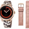 Festina SmarTime   Women's Printed Leather Strap   Rose Gold Case  Additional Pink Strap F50001/2