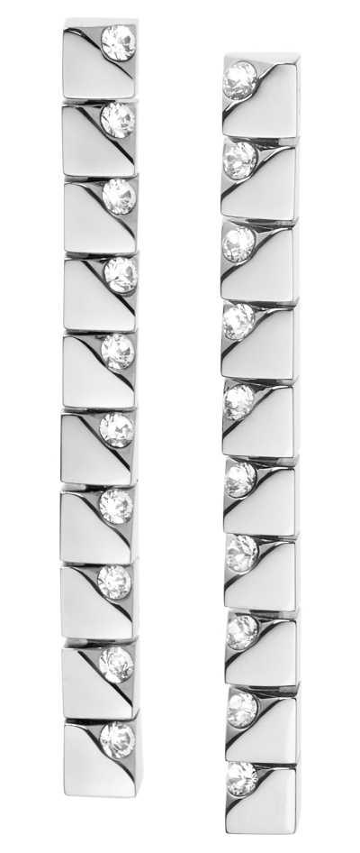 Calvin Klein Tune   Stainless Steel Drop Earrings   Crystal Set KJ9MME040500