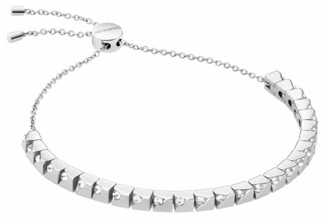 Calvin Klein Tune | Stainless Steel Cube Bracelet | Crystal Set KJ9MMB040500