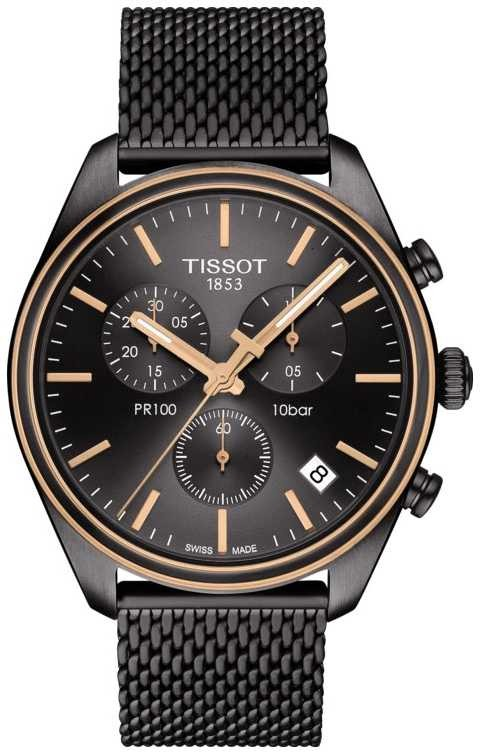 Tissot Mens T Classic PR 100 Chronograph T1014172306100