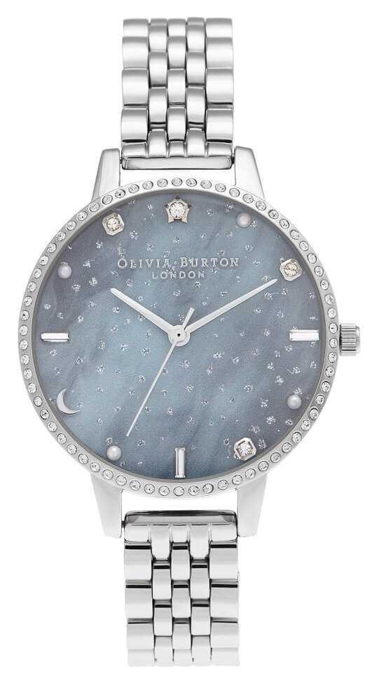 Olivia Burton Night Sky Demi Dial Silver Bracelet OB16GD65